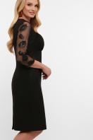 лиловое платье больших размеров. платье Сусанна-1Б д/р. Цвет: черный цена