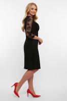 лиловое платье больших размеров. платье Сусанна-1Б д/р. Цвет: черный в интернет-магазине