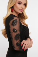 лиловое платье больших размеров. платье Сусанна-1Б д/р. Цвет: черный в Украине