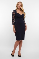 лиловое платье больших размеров. платье Сусанна-1Б д/р. Цвет: синий купить