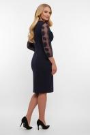 лиловое платье больших размеров. платье Сусанна-1Б д/р. Цвет: синий в интернет-магазине