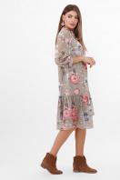 белое платье с цветочным рисунком. платье Элисон 3/4. Цвет: оливка-цветы б. в интернет-магазине