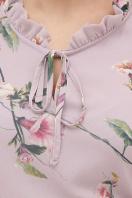 белое платье с цветочным рисунком. платье Элисон 3/4. Цвет: лиловый-цветы б. в Украине