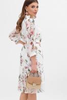 белое платье с цветочным рисунком. платье Элисон 3/4. Цвет: белый-цветы б. цена
