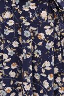 . платье Изольда-Б к/р. Цвет: синий-цветы в интернет-магазине