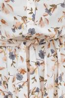 . платье Изольда к/р. Цвет: молоко-цветы в интернет-магазине