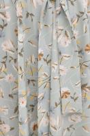 . платье Изольда к/р. Цвет: св. голубой- цветы в интернет-магазине