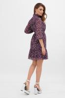 платье из шифона с рукавом три четверти. платье Малика д/р. Цвет: сливовый-цветы м. в Украине