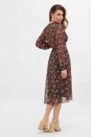 . платье Алеста д/р. Цвет: черный-роза красная в интернет-магазине
