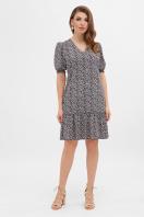 короткое платье с принтом. платье Мальвина к/р. Цвет: синий-м. цветы купить