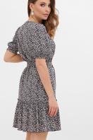 горчичное платье в горошек. платье Мальвина к/р. Цвет: синий-м. цветы в интернет-магазине