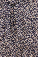горчичное платье в горошек. платье Мальвина к/р. Цвет: синий-м. цветы в Украине