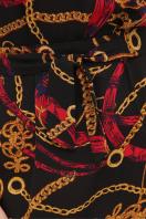 короткое платье с принтом. платье Мальвина к/р. Цвет: цепи-ремешки красные в Украине