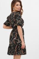 горчичное платье в горошек. платье Мальвина к/р. Цвет: цепи-украшения в интернет-магазине