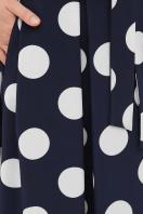 платье макси в горошек. платье Шайни к/р. Цвет: синий-белый горох б. в интернет-магазине