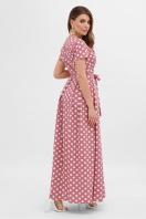 платье макси в горошек. платье Шайни к/р. Цвет: т.розовый-белый горох купить