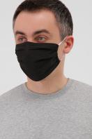 защитная маска в горошек. Маска №1. Цвет: черный в интернет-магазине