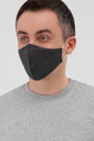 трикотажная синяя маска. Маска №5. Цвет: т. серый в Украине