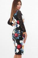 нарядное платье с цветами. Пионы платье Карима д/р. Цвет: черный в Украине