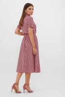 . платье Изольда-Б к/р. Цвет: розовый-черный горох с. в интернет-магазине