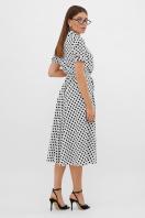 . платье Изольда-Б к/р. Цвет: молоко-черный горох с. в интернет-магазине