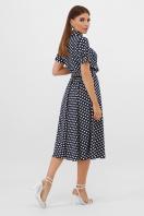 . платье Изольда к/р. Цвет: синий-белый горох с. в интернет-магазине