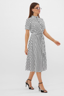 . платье Изольда к/р. Цвет: молоко-черный горох с. цена