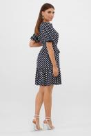 короткое платье с принтом. платье Мальвина к/р. Цвет: синий-белый горох с. в интернет-магазине