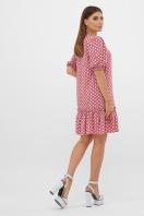 короткое платье с принтом. платье Мальвина к/р. Цвет: т.розовый-белый горох с. в интернет-магазине