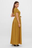 горчичное платье макси. платье Шайни к/р. Цвет: горчица-черный горох с. цена
