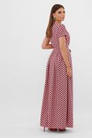 горчичное платье макси. платье Шайни к/р. Цвет: розовый-черный горох с. в интернет-магазине