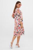 белое платье с цветочным рисунком. платье Элисон 3/4. Цвет: белый-розы в интернет-магазине