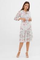 белое платье с цветочным рисунком. платье Элисон 3/4. Цвет: мята-цветы розов. цена