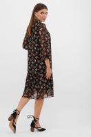белое платье с цветочным рисунком. платье Элисон 3/4. Цвет: черный-роза красная в интернет-магазине