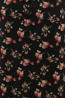 белое платье с цветочным рисунком. платье Элисон 3/4. Цвет: черный-роза красная в Украине