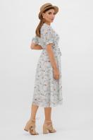 цветастое платье из шифона. платье Алеста к/р. Цвет: мята-цветы в интернет-магазине