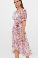цветастое платье из шифона. платье Алеста к/р. Цвет: розовый-цветы розов. цена