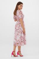 цветастое платье из шифона. платье Алеста к/р. Цвет: розовый-цветы розов. в интернет-магазине