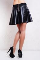 черная юбка из искусственной кожи. юбка Кожа. Цвет: черный