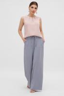 летние бежевые брюки. брюки Тилли. Цвет: св.джинс в интернет-магазине