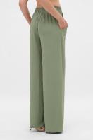 летние бежевые брюки. брюки Тилли. Цвет: св.хаки в интернет-магазине