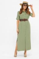 бежевое рубашечное платье. платье-рубашка Мелиса к/р. Цвет: св.хаки купить