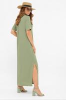длинное розовое платье-рубашка. платье-рубашка Мелиса к/р. Цвет: св.хаки цена