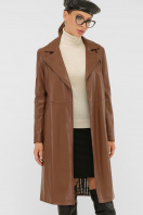 кожаный плащ коричневого цвета. Плащ 108-100 (К). Колір: 607-коричневый купить