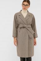 . Пальто П-300-100. Цвет: 2326-коричневый цена