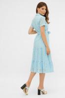голубое платье из прошвы. платье Уника 1 к/р. Цвет: голубой в интернет-магазине