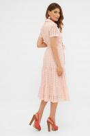 голубое платье из прошвы. платье Уника 1 к/р. Цвет: персик в интернет-магазине