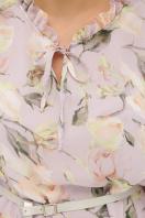 белое платье с цветочным рисунком. платье Элисон 3/4. Цвет: сиреневый- роза ваниль в Украине