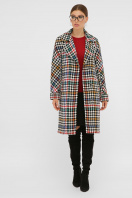 . Пальто П-399-100. Цвет: 2434-лапка цветная в интернет-магазине