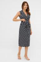 синее платье в белый горошек. платье Нарина б/р. Цвет: синий - белый горох цена